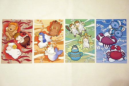 12星座エレメントポストカード
